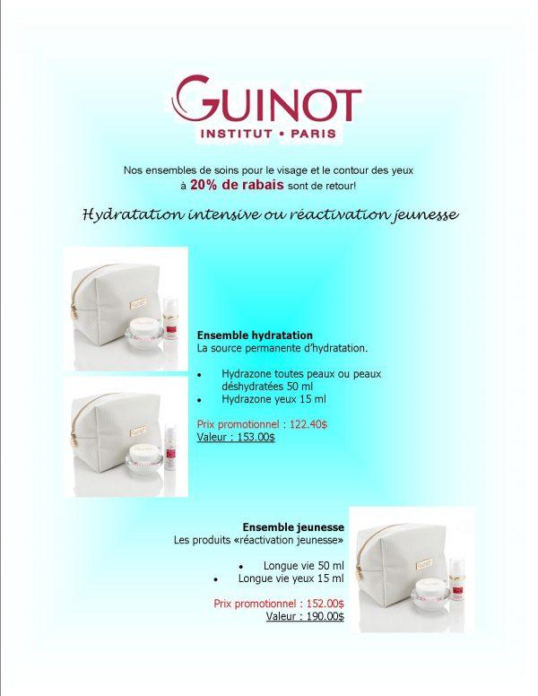 Trousse de soins Guinot à 20% de rabais